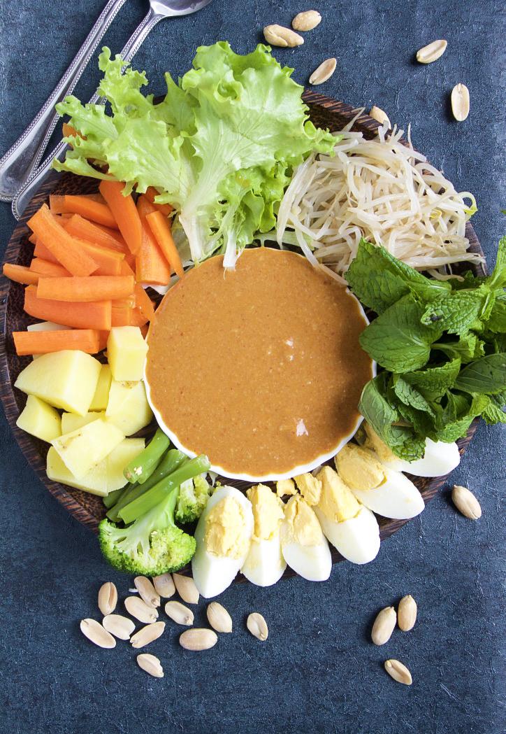 Healthy Gado Gado Salad With The Best Peanut Sauce Unconventional Cooks